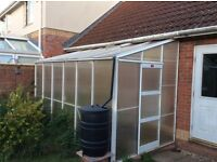 Polycarbonate lean-to greenhouse 6.5ft x 12.7ft by Elite Greenhouses