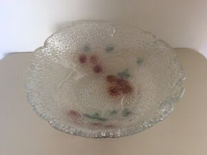 Vintage Czech Cherry Blossom Glass Bowl East Perth Perth City Area Preview