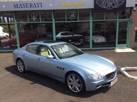 Stunning 2006 QPV Sport GT! V Low Mileage. ArgentoLuna with Crema Leather interior & blue piping.