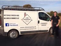 CTB Sweeping Chimney Sweep available, covering Norfolk and Suffolk