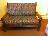 2 Seater Sofa - Solid English Oak.