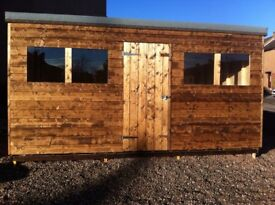Wooden garden shed 14ft x 10ft
