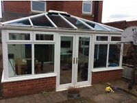 Large conservatory 15ft X 13ft 7 with glass roof