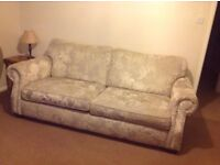 Barker and Stonehouse sofa, chair and foot stool