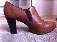 5th Avenue (Deichmann) - Ladies' Cognac Leather shoes