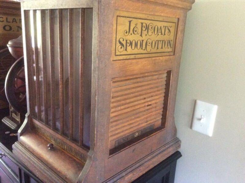 Antique J & P Coats Spool Cotton Cabinet - Country Store