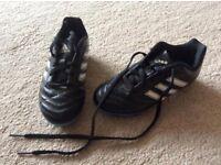 Boys Adidas football boots, junior size 11