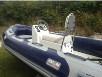 Avon 410 rib boat & trailer