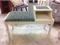 Beautifully refurbished telephone table /seat
