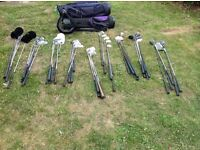 55 different golf clubs and 3 bags - nr14