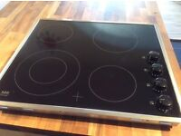 AEG black electric ceramic Hob. New unused