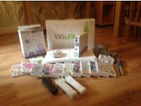 wii console wii fit board accessories and games