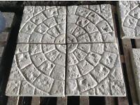 Cobble circle design concrete paving slabs 450x450x35mm