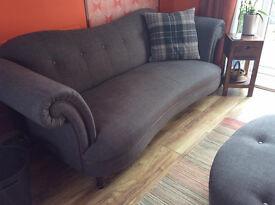 FOR QUICK SALE £500, Beautiful large sofa, snuggle sofa and footstool