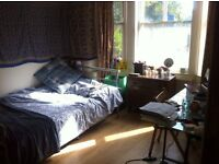 Bright, spacious double bed room in friendly student house