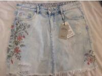 Selling (or exchange) cute denim skirt (brand new!!)