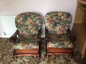 1 x pair armchairs