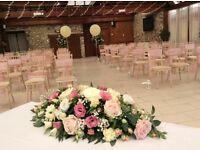 Pink wedding sashes