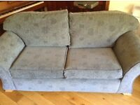 Blue Sprung sofa bed for sale