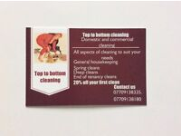 Domestic and commercial cleaners, reliable and efficient with references on request