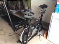 Spin bike and Treadmill