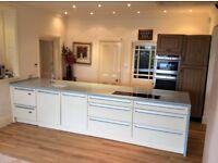 URGENT- MUST GO Stunning Corian® Full Kitchen Island W 2 Neff Ovens / Microwave Oven/ Grill £18k