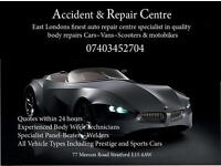 Stratford Accident and Repair Center Cars Vans motobikes panel beaters welders respray