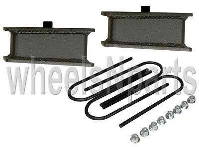 "3"" lowering blocks fab steel rear axle ubolts drop kit 1998-older import trucks"