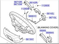 Hyundai Santa Fe Steering Remote 967000w100CA