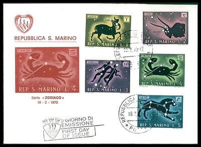 SAN MARINO FDC 1970 STERNZEICHEN TIERKREISZEICHEN ZODIAC dq80