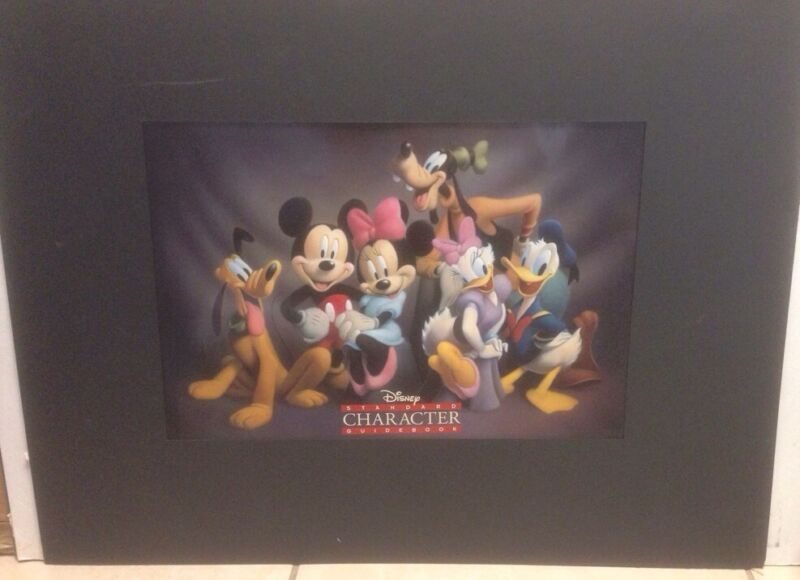 DISNEY RARE STANDARD CHARACTER GUIDEBOOK COVER ARTIST PROOF MICKEY GOOFY DAISY
