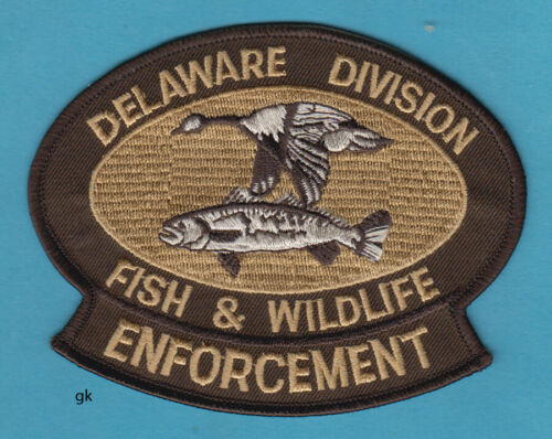 DELAWARE FISH & WILDLIFE ENFORCEMENT POLICE SHOULDER PATCH (Subdued-Brown)