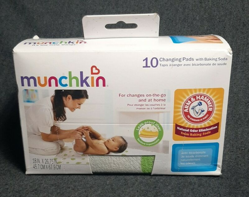 Munchkin Arm and Hammer Disposable Changing Pad 10 Count Size 10-pack