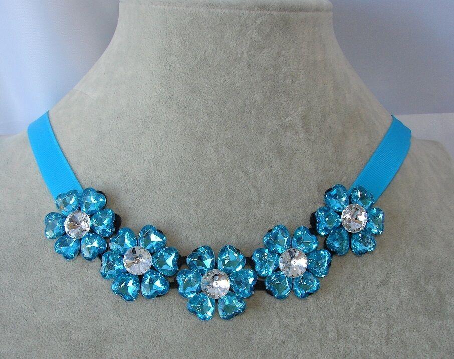 Collana di Fiori girocollo con nastro,colorata,Ragazza,Collarino,