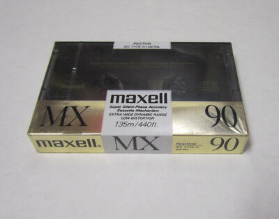 Set of 6 New Sealed Maxell MX 90 Metal Cassette Tape Made in Japan