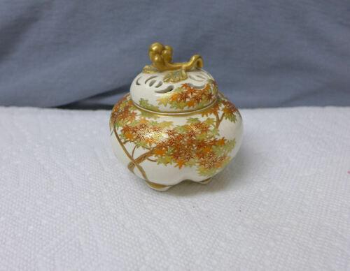 Japanese Satsuma Kinkozan Footed Censer Incense burner Vase