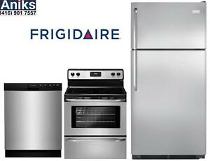 Frigidaire Flipper Home 3pc Kitchen Appliance Package: FFTR1821QS-FFBD2412SS-CFEF3043RS Sale Ends Mar 22nd 2017
