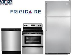 Frigidaire Flipper Home 3pc Kitchen Appliance Package: FFTR1821QS-FFBD2412SS-CFEF3043RS Sale Ends Mar 22nd 2017