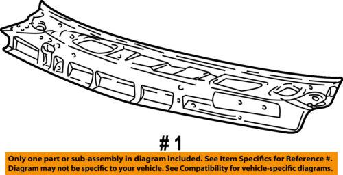Genuine Hyundai 66703-25100 Cowl Top Panel Assembly