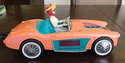 BARBIE DOLL 1962 AUSTIN HEALEY CAR Replica Electric AM/FM CLOCK RADIO Works