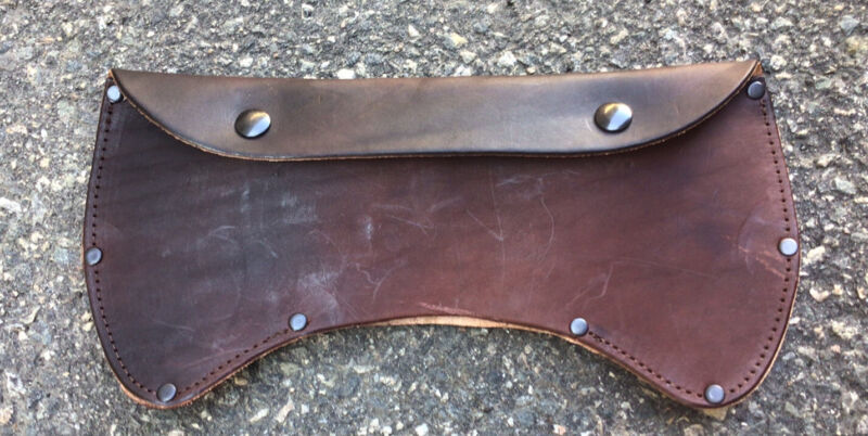 Brown Leather Double Bit Ax Sheath (Factory Second)