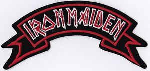 IRON MAIDEN - ROCKER LOGO - IRON or SEW ON PATCH