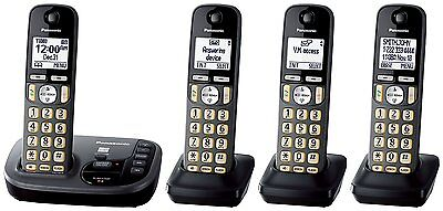Panasonic KX-TGD224M DECT 6.0 Cordless Phone with Answering Machine - 4 Handsets