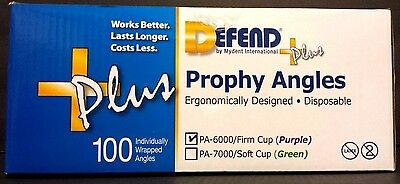 Defend Plus Disposable Prophy Angles Pa-6000 Firm Cup Purple 100 Angles