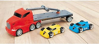 BRAND NEW LITTLE TIKES WHEELZ MAGNETIC CAR LOADER 2 SPORTS CARS INCLUDED!!