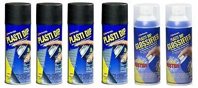 Plasti Dip Gloss Black Wheel Kit - 4 Matte Black And 2 Glossifier