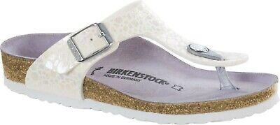 ds Sandale Metallic Stones White Größe 30 31 32 33 34 schmal (Birkenstock Größe 33)