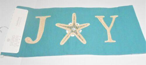 "Sigrid Olsen JOY Christmas Beach Theme Embellished 14"" x 48"" Table Runner"