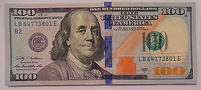 1 Light Circulated $100 Federal Reserve Note US Currency One Hundred Dollar Bill