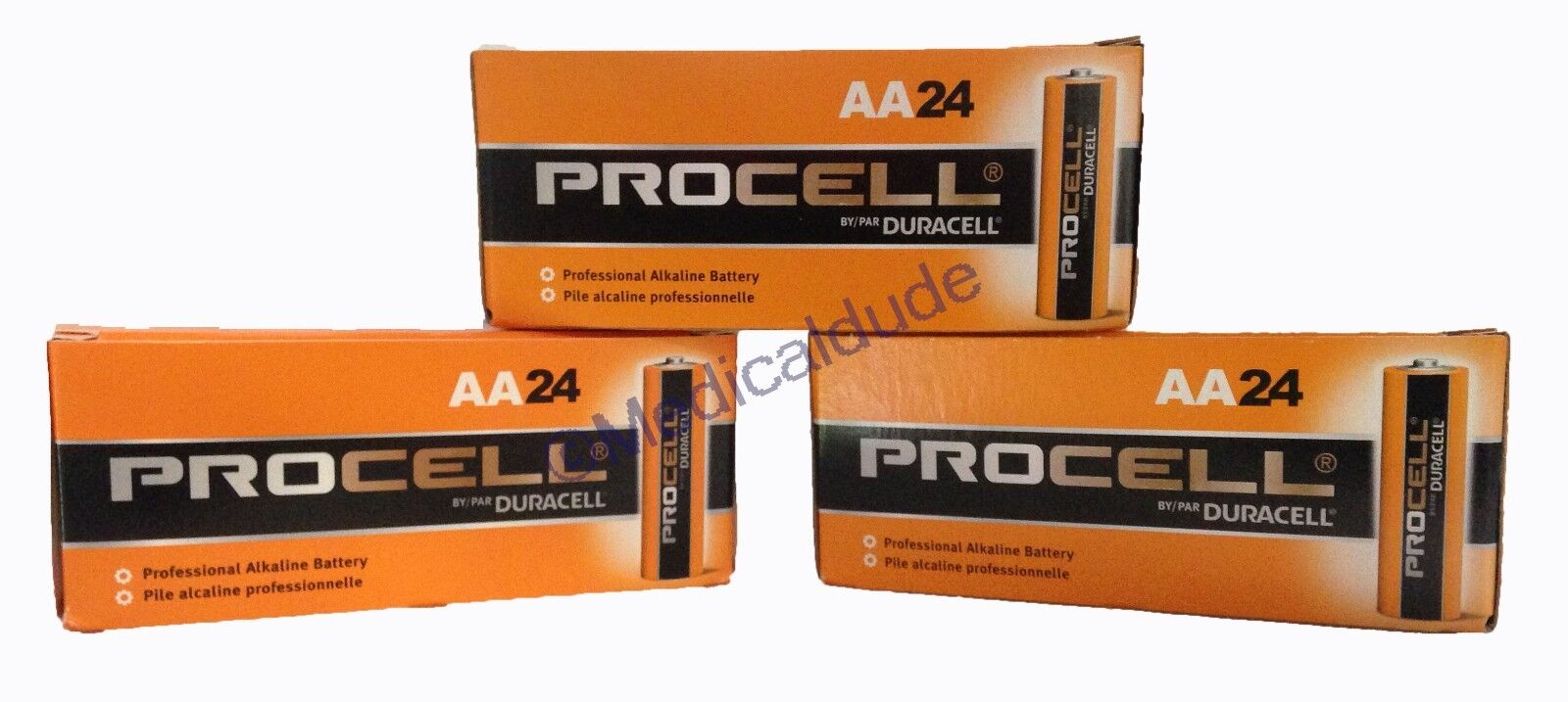 Duracell Procell PC1500 Alkaline AA Batteries 72 Batteries 3